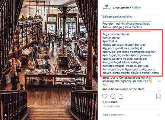 Hashtags destacados en Instagram